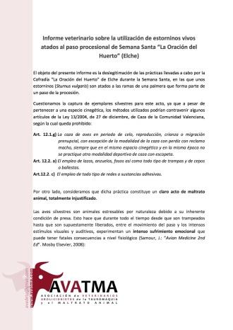 Informe veterinario tordos Elche1