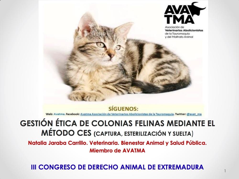1CHARLA CES BADAJOZ_III congreso de derecho animal de Extremadura