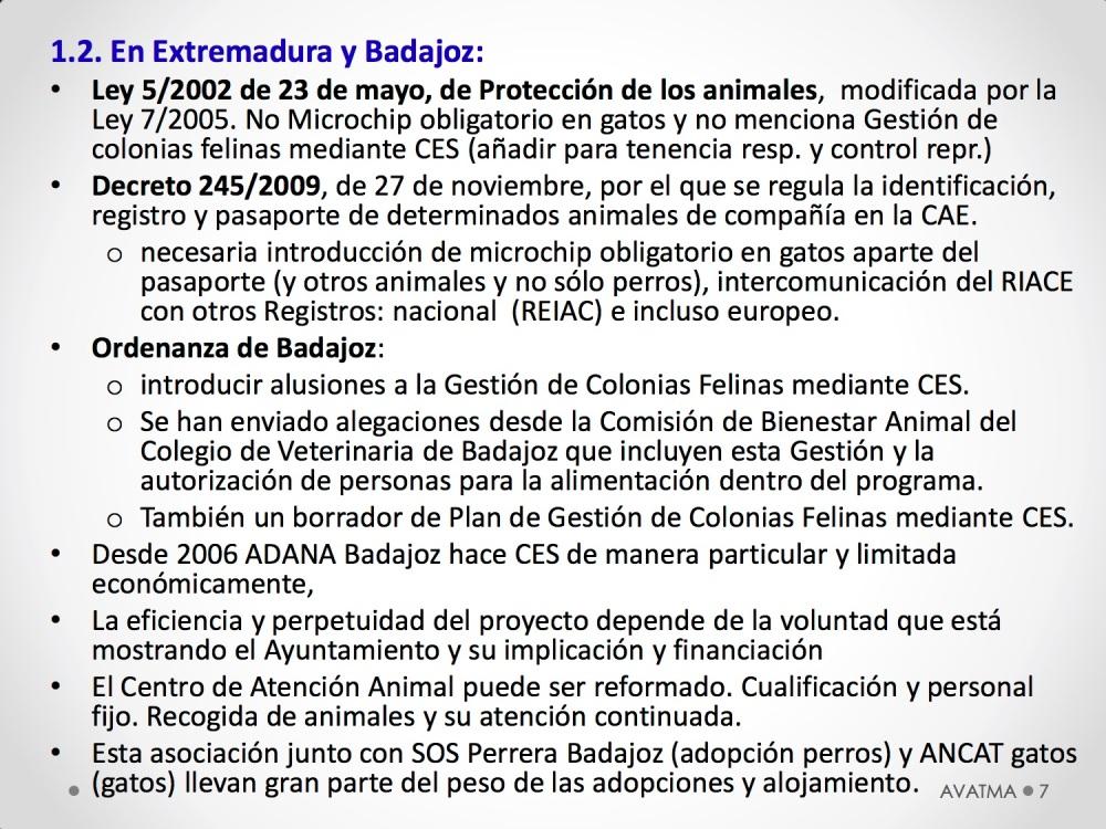 7CHARLA CES BADAJOZ_III congreso de derecho animal de Extremadura
