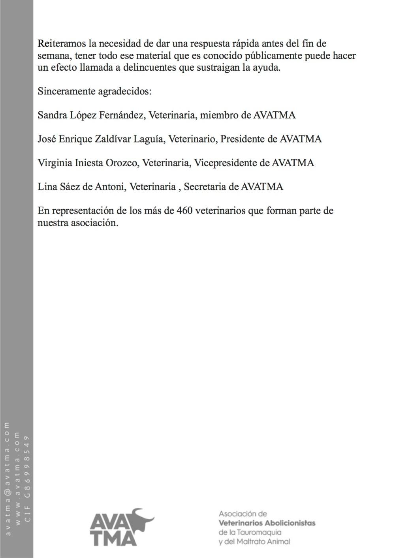 peticion ayuda de AVATMA3