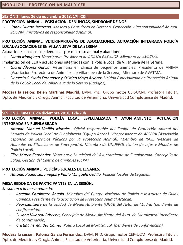 Programa. CICLO FORMATIVO. GESTIÓN ÉTICA Y SANITARIA DE COLONIAS FELINAS. CER-UCM (CURSO 2018-2019)_Página_3