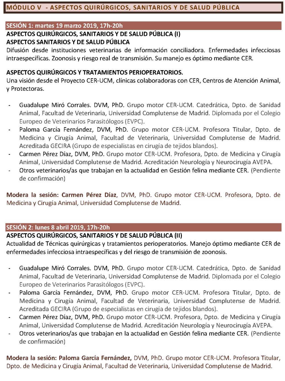 Programa. CICLO FORMATIVO. GESTIÓN ÉTICA Y SANITARIA DE COLONIAS FELINAS. CER-UCM (CURSO 2018-2019)_Página_6